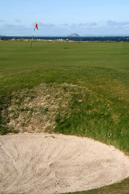 The 12th green at Dunbar Golf Course