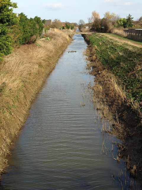 Burstwick Drain from Thorn Road in Hedon
