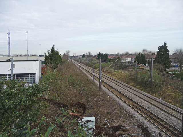 Railway line, Southbury, Enfield
