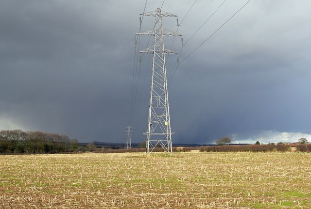 Stormy weather and pylons