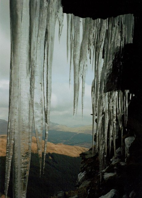Icicles on Cruach na Cioba