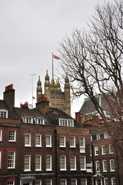 Houses of Parliament from Smith Square