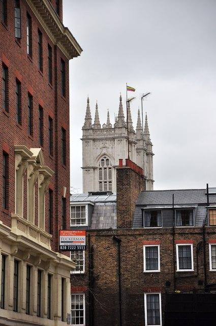 Westminster Abbey from Gayfere Street