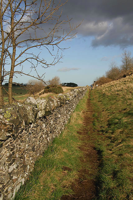 A footpath at Traprain Law