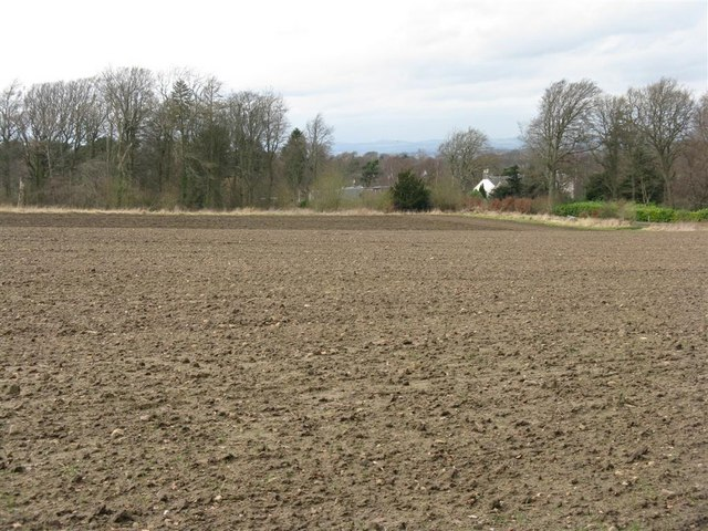 Rather bare spring field at Lymphoy