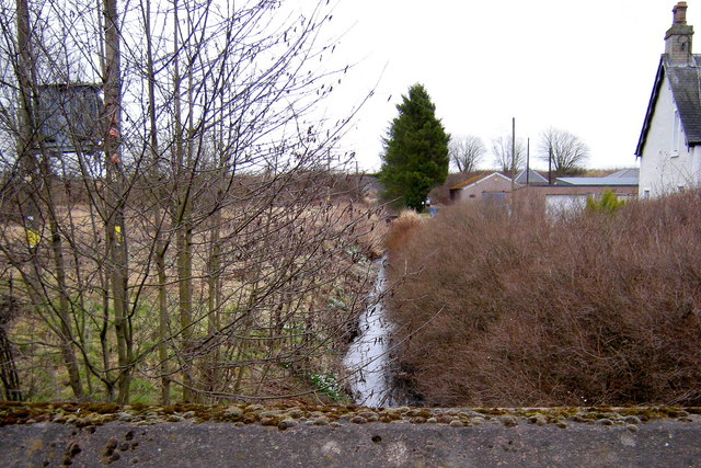 View of Meigle Burn, at Meigle looking downstream