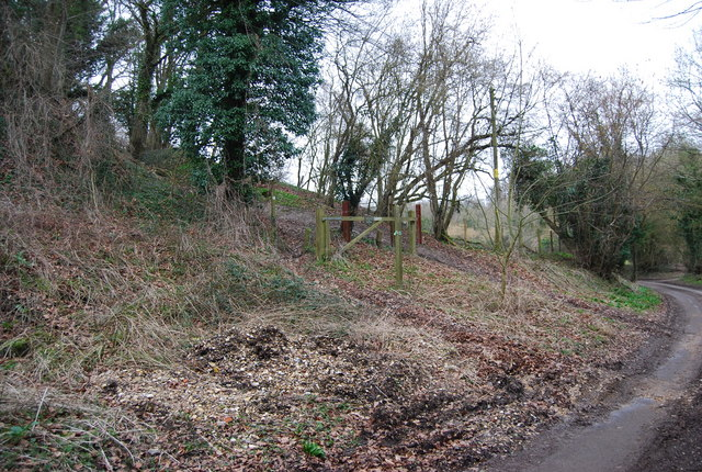 Bridleway coming in from the West