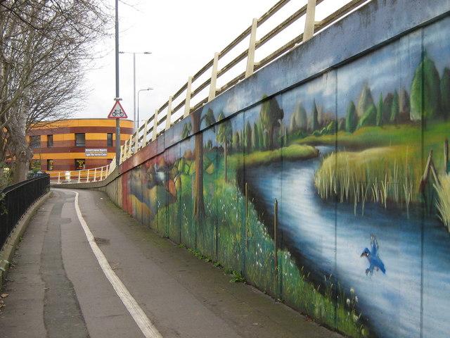 Street art near Mina Road