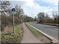 SP9452 : Shared use footpath alongside the A428 by Stephen Craven