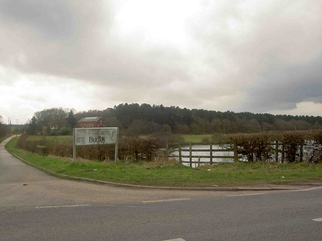 Cycle route 6 and entrance to Budby water works