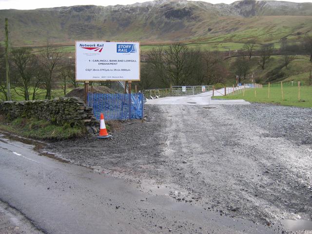 Network Rail site access road