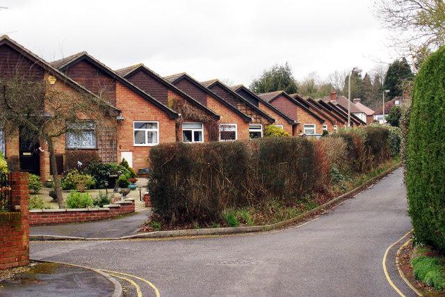 Bungalows on Parfitts Close, Farnham, Surrey