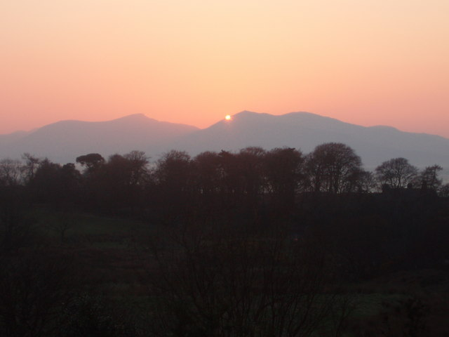 Sunset over Mull and Forest near Ganavan