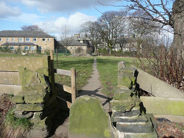 Path and stile near Boothroyd, Rastrick