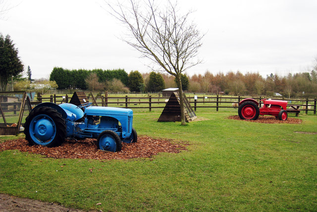 Playground Tractors at Jenny Wren Farm