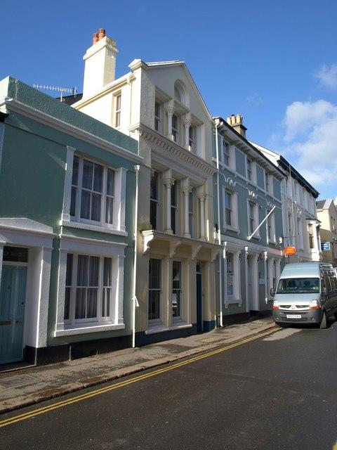Buildings on St Lawrence Lane, Ashburton