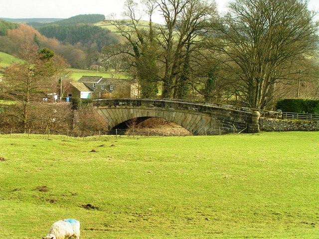 Nidd Bridge, Ramsgill from Nidderdale Way