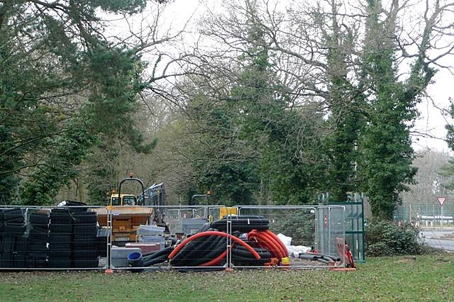 Utility works in Heath End