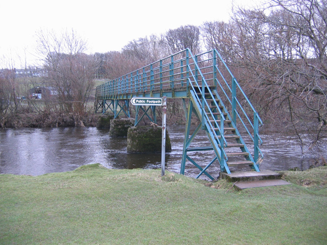 Footbridge over River Lune