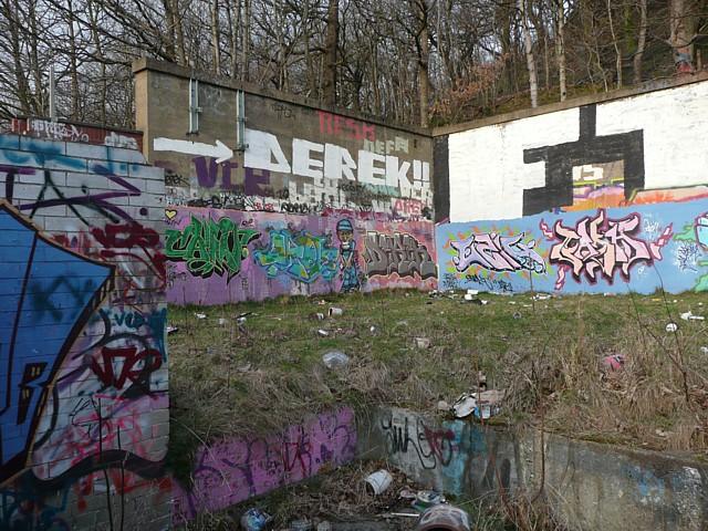 Graffiti at Huddersfield Road, Salterhebble, Halifax