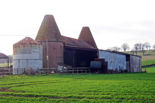 Unconverted Oast House at Pitt Farm, Frensham, Surrey