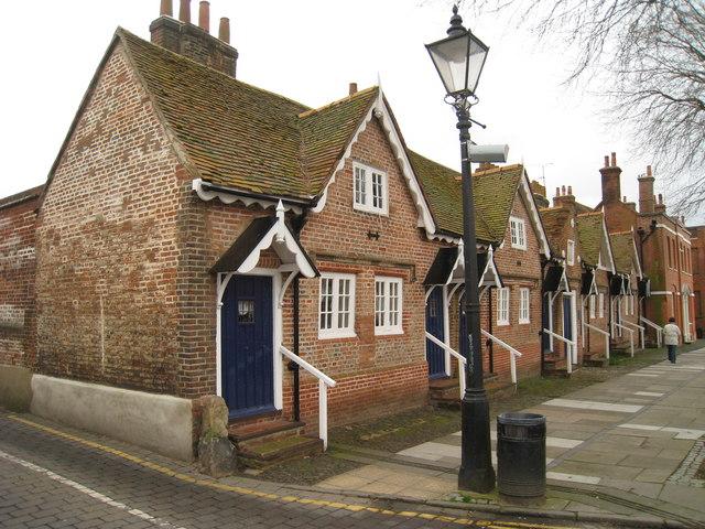 Cottages on Castle Street, Farnham