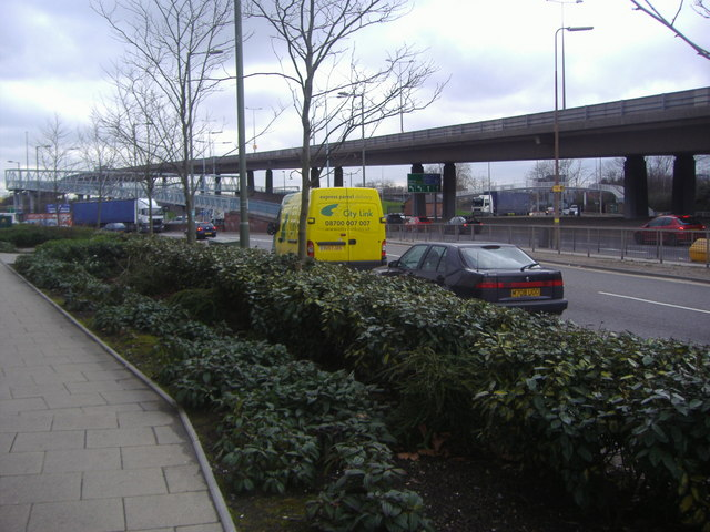 North Circular overpass, Staples Corner