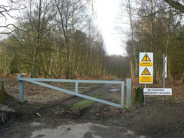 Gate to MOD training area