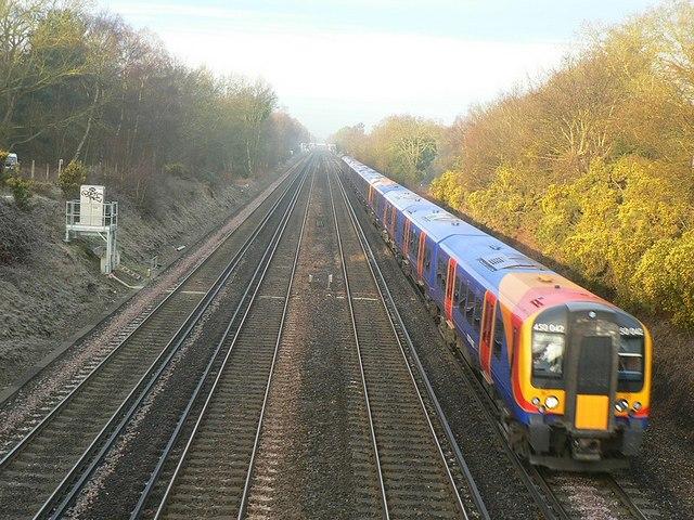 Railway lines, Bramshot, Fleet