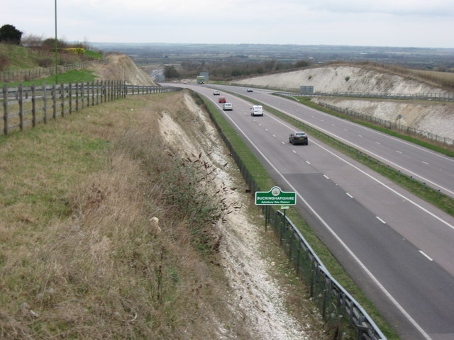 Aston Clinton Bypass – Aylesbury Vale in the distance