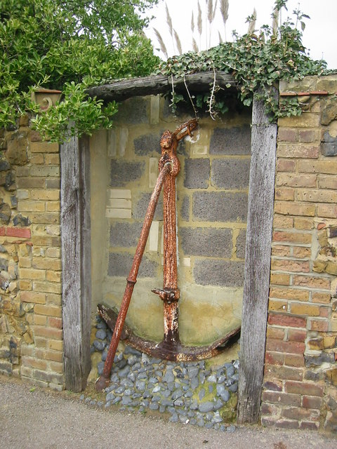 Rusted anchor