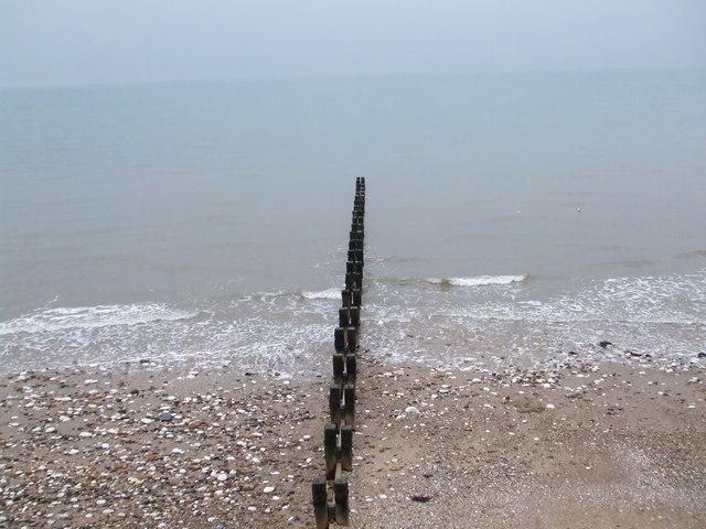 Groyne into the sea