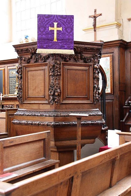 St Benet Paul's Wharf, Queen Victoria Street, London EC4 - Pulpit