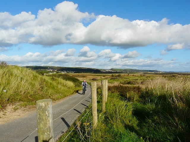 Cyclist at Pembrey Burrows