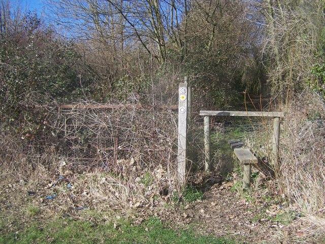 Stile near footpath junction, near West Peckham