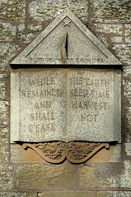 A sundial at Swinton Kirk
