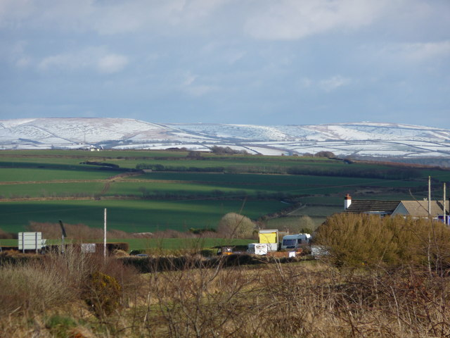 Snow covered Exmoor.