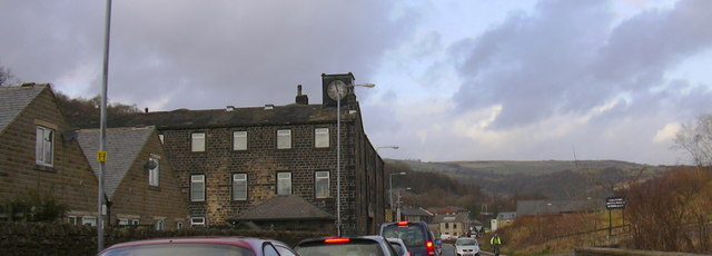 Mill with Clock Tower, Rochdale Road