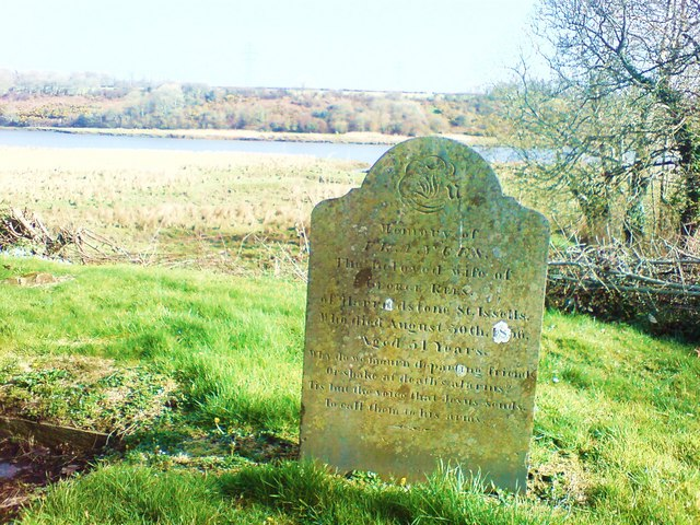 Grave of Frances Rees of Haroldstone, St Issells