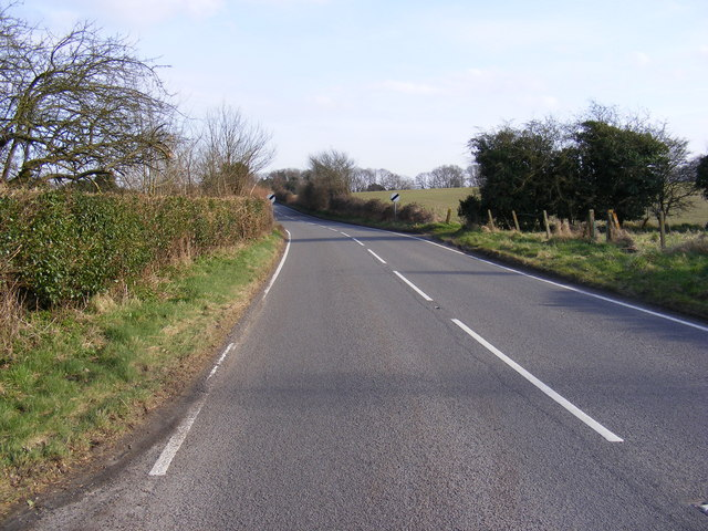 B1122 Leiston Road, Theberton at Annesons Corner