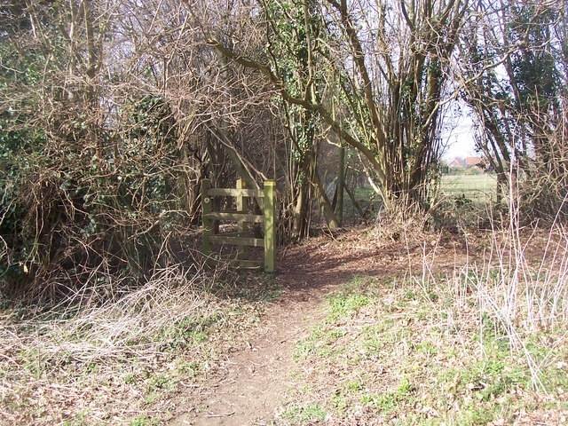 Footpath junction on Greensand Way