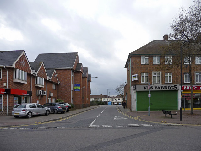 Access road to Car Park, Waltham Cross, Hertfordshire