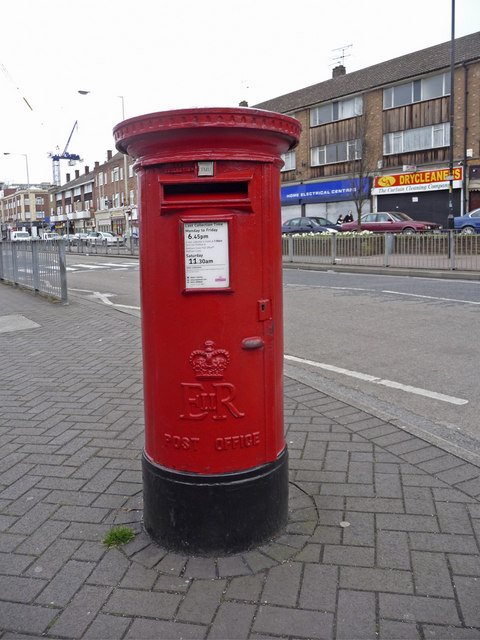 Queen Elizabeth II Pillar Box, Waltham Cross, Hertfordshire
