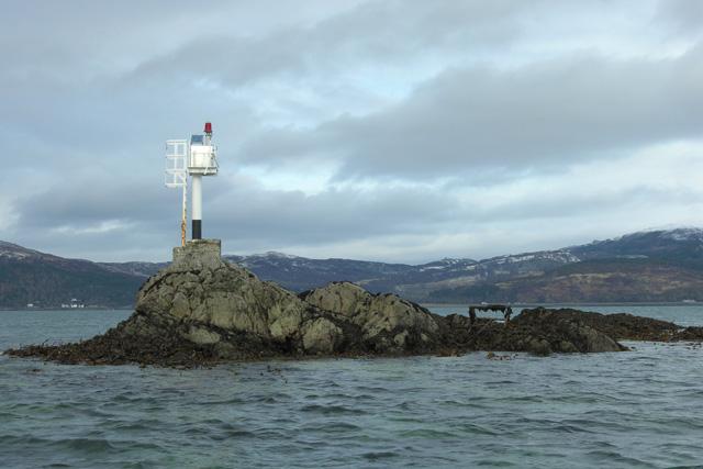 Navigation light on Sgeir na Caillich