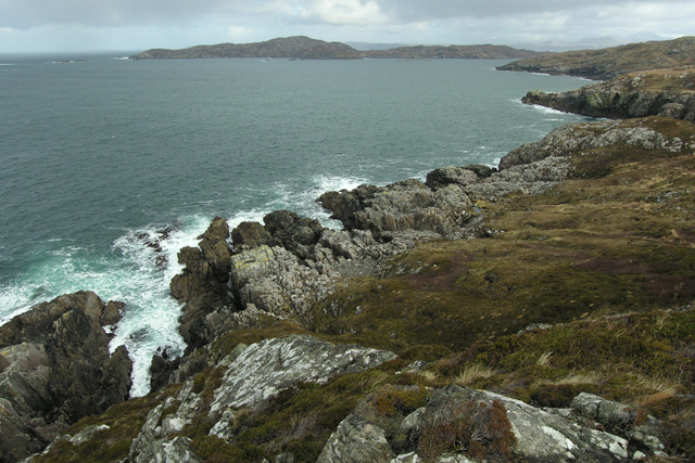 Looking north-east below Creag Liath towards Oldany Island