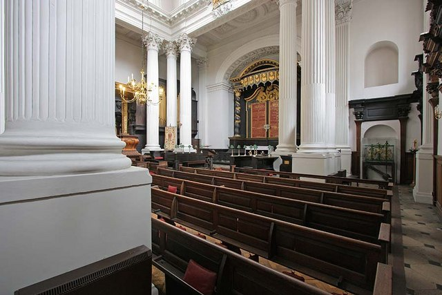 St Mary Woolnoth, Lombard Street, London EC3 - Interior looking east