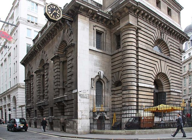 St Mary Woolnoth, Lombard Street, London EC3