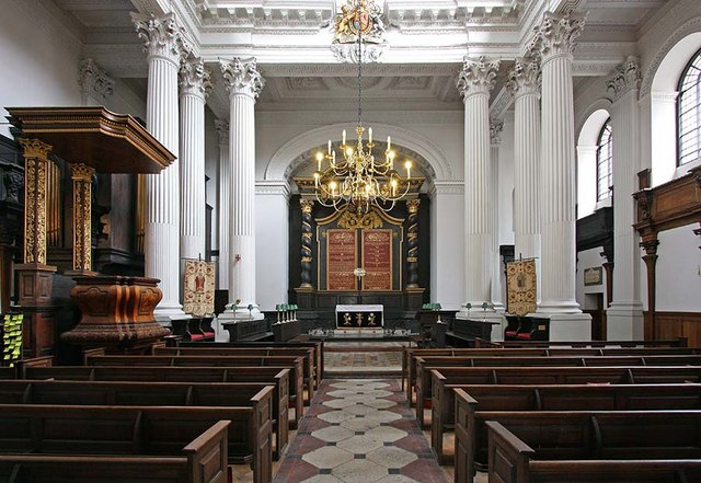 St Mary Woolnoth, Lombard Street, London EC3 - East end