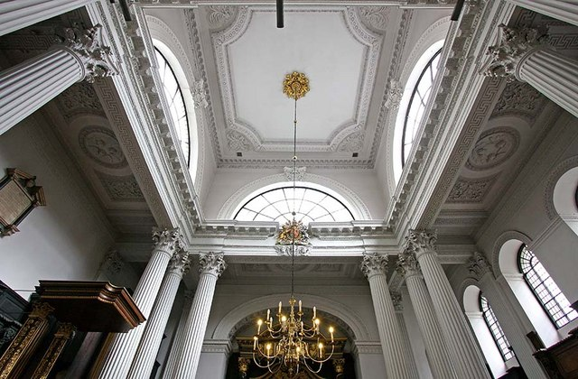 St Mary Woolnoth, Lombard Street, London EC3 - Roof