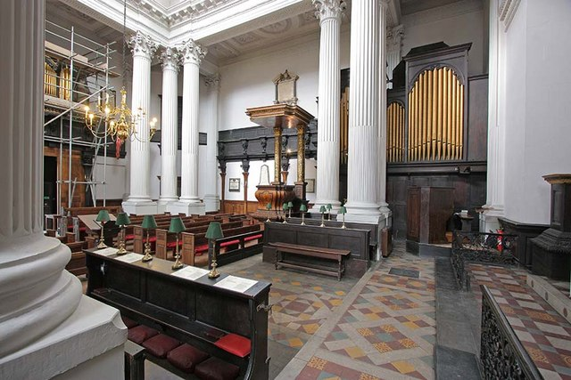 St Mary Woolnoth, Lombard Street, London EC3 - Interior
